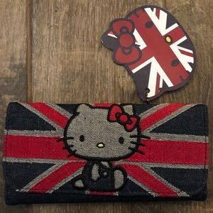 NWT Rare Loungefly Union Jack Hello Kitty Wallet